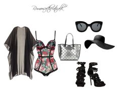 """""""Vacation vibes"""" by rumorsofthecatwalk on Polyvore featuring Dsquared2, Victoria's Secret, Calvin Klein and CÉLINE"""