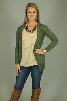 Everyone needs a cardigan like this!!! From the color to the fit, this is a piece you NEED in your closet. Just throw this on over almost anything for a casual outfit. The pockets on the front add the perfect trendy detail. Wear this buttoned up for a preppy look, or leave it open for more of a relaxed look:)  Fits true to si...