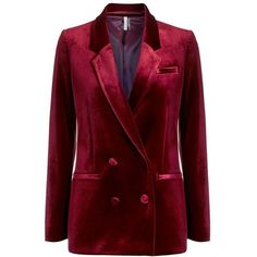 Women's Topshop Velvet Suit Jacket (4.195 RUB) ❤ liked on Polyvore featuring outerwear, jackets, topshop jackets, red velvet jacket, double breasted jacket, velvet jacket and red double breasted jacket