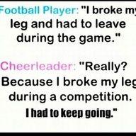 cheer vs football
