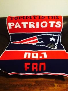 Free Crochet Pattern For New England Patriots Afghan : New England Patriots Afghan pattern by Erin Swan ...