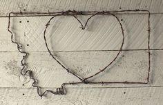 Montana Heart Wire Wall Art
