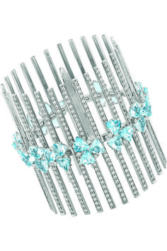 Hueb - Trilliant bracelet in 18k gold with 23 cts. t.w. aquamarine and 7.75 cts. t.w. diamonds, $33,750;
