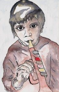 Vincent's world (ink & watercolor) Kabuki, Watercolor Art, Painting, Vincent, Art, Character, Ink, Portrait, Zelda Characters