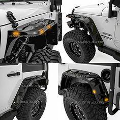 Razer Auto 07-17 Jeep Wrangler JK Rock Crawler Stubby Glo...