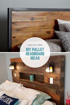 Diy Pallet Wall, Diy Pallet Furniture, Diy Pallet Projects, Pallet Ideas, Headboard Designs, Headboard Ideas, Diy Headboards, Bedroom Ideas, Bedroom Decor