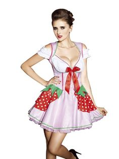 Amour Deluxe Sexy Strawberry Girl Women Adult Costume Dress Carnival Halloween | Fashion Too Cheap