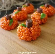 Rice Crisy treats with tootsie roll as stem!