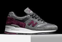 "The New Balance 997 gets another top-par quality construction as part of the Made in USA range with the latest ""Connoisseur Guitar"" colorway in shades of grey and deep red. The speedy look of the 997 that is quickly becoming … Continue reading →"