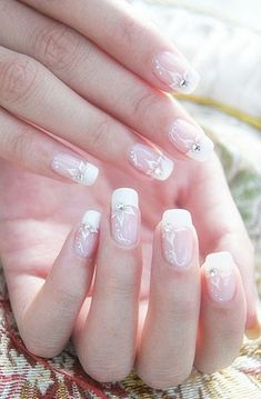 All girls like beautiful nails. The first thing we notice is nails. Therefore, we need to take good care of the reasons for nails. We always remember the person with the incredible nails. Instead, we don't care about the worst nails. Wedding Nails Design, Nail Wedding, Wedding Art, Bridal Nail Art, Ruby Wedding, Wedding Quotes, Wedding Veils, Wedding Beauty, Gold Wedding
