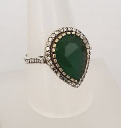 Fashion Jewelry Turkish Emerald Topaz .925 Silver & Bronze Earrings #92109 Mild And Mellow