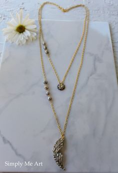 Vintage Rhinestone and Pearl Long and Layered by simplymeart, $58.00