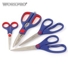 stainless steel scissors on sale at reasonable prices, buy WORKPRO Paper Scissors, Home Scissors Set Multipurpose for DIY Craft Paper-cutting from mobile site on Aliexpress Now! Arts And Crafts, Paper Crafts, Diy Crafts, Tool Shop, Diy Supplies, Cool Things To Buy, Stuff To Buy, Hand Tools, Paper Cutting