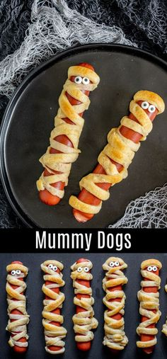 A simple recipe for how to make Mummy Dogs! This easy Halloween recipe is perfect for dinner on Halloween night or a fun Halloween party food. All you need are crescent rolls and hot dogs to bake up this easy Halloween treat. Make mummy dogs for your kids Halloween Food Kids, Comida De Halloween Ideas, Hallowen Food, Halloween Party Snacks, Halloween Dinner, Halloween Night, Halloween Decorations, Halloween 2020, Halloween Costumes