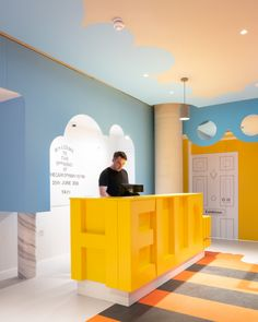 New design of the Cartoon Museum in London by Sam Jacob Studio - New design of the Cartoon Museum in London by Sam Jacob Studio Best Picture For kids face For You - Kindergarten Interior, Kindergarten Design, Cartoon Museum, Cafe Interior, Interior Design, Kids Cafe, Hospital Design, Kids Store, Kid Spaces