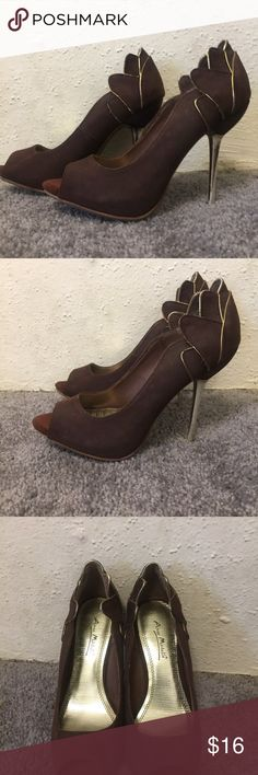 0b9790cf3df71 Anne Michelle Peep Toe Heels Sz 7.5 This listing is for a pair of Anne  Michelle