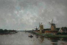 Willem Cornelis Rip (Rotterdam 1856-1922 Den Haag) Molens aan de Zaan