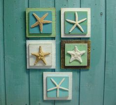 Starfish Plaque Sign Wall Art Beach House Decor - One Plaque of Your Choice by CastawaysHall The starfish plaque, an original design from