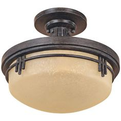 "Mission Ridge 13"" Wide Semi Flush Ceiling Light - #W8480 