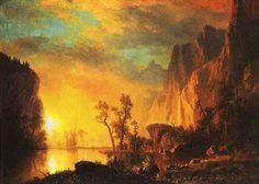 Sunset in the Rockies, Albert Bierstadt