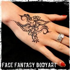 Freehand hennastyle temporary tattoo by Face Fantasy BodyArt