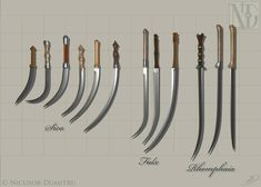 A display of the Dacian and Thracian swords, sica, falx and rhomphaia, that I have made in Blender. Dacian And Thracian Swords Ninja Weapons, Weapons Guns, Swords And Daggers, Knives And Swords, Curved Swords, Roman Sword, Forging Knives, Father Tattoos, Cool Swords