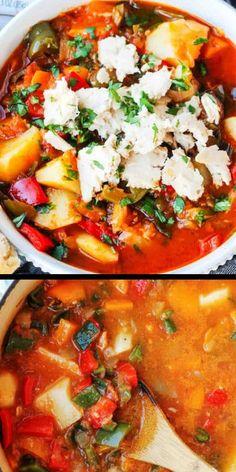 Spanish Style Tuna Stew with Poatoes