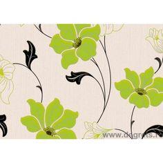 Tapet vinil Letizia verde floare