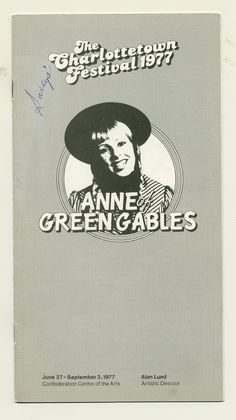 1977 brochure cover, Anne of Green Gables - The Musical™ at Confederation Centre of the Arts.