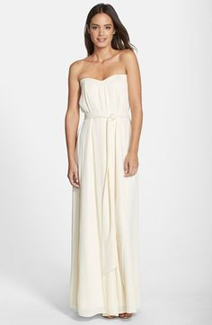 Option 1: bridesmaid dresses Paper Crown by Lauren Conrad 'Natalie' Crepe Gown available at #Nordstrom