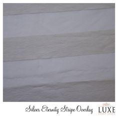 #www.luxeeventlinen.com Silver Eternity Stripe Linen