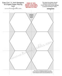 Tips for cutting hexagon templates | Template, English and Paper ... : hexagon quilt pattern template - Adamdwight.com