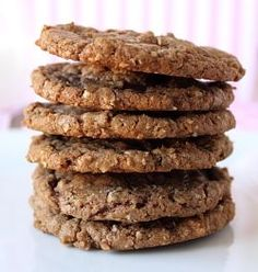 Oatmeal Nutella Cookies :: My most favorite cookie in the whole world is Oatmeal Chocolate Chip, and I ADORE Nutella, so this cookie recipe is a MUST TRY!