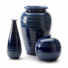 Romano Blue Vases - Ethan Allen US