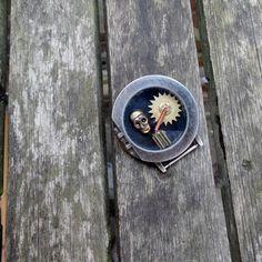 steampunk time bomb brooch £10.00