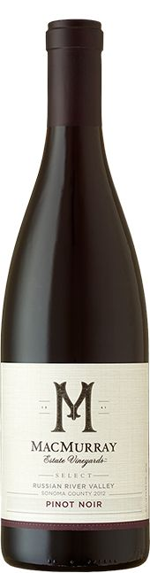 Bottle of Russian River Valley Pinot Noir from MacMurray Estate Vineyard