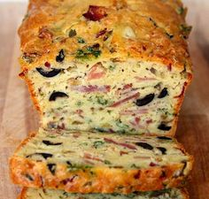 olive, bacon and cheese bread, see more at http://homemaderecipes.com/entertaining/baking-entertaining/unusual-bread-recipes/
