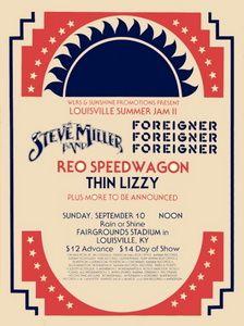 Fairgrounds Stadium, Louisville, Kentucky, US, Louisville Summerjam II Steve Miller Band, Foreigner, Reo Speedwagon, Thin Lizzy 1978