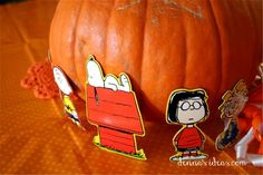 """""""It's the Great Pumpkin Charlie Brown"""" party ideas by denna's ideas.  Fast and easy ideas for a fall birthday party."""