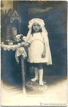 Primera Comunión Fotógrafo M.Simo 1920 (Fotografía Antigua - Tarjeta Postal)