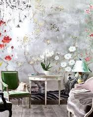 Risultati immagini per Carta da parati classica / motivi floreali / aspetto tessuto / dipinta a mano JAPANESE GARDEN
