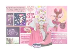 Sailor Chibi Moon by pearl2ne1cookie on Polyvore featuring polyvore fashion style River Island Dr. Martens Funk Plus Marc by Marc Jacobs Capsule By Cara Chanel women's clothing women's fashion women female woman misses juniors