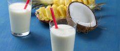 Shake refrescante de abacaxi e coco - Lucilia Diniz
