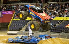 Superman - The Most Badass Monster Trucks That Will Crush Anything | Complex Monster Jam, Monster Truck Madness, Monster Truck Show, Monster Trucks, Monster Truck Birthday, Superman, Shaquille O'neal, Fire Truck Nursery, Monster Pictures