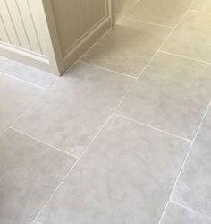 Paris Grey limestone kitchen flooring