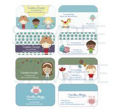 Cartão Visita - tema infantil sonhodepapel.com