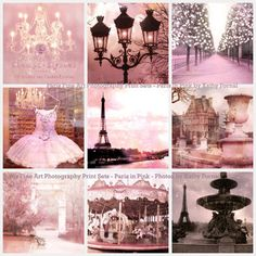 Paris Pink Collage