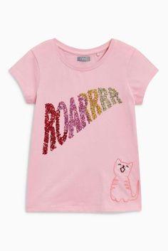 Kaufen Sie Pink Sequin Slogan T-Shirt (3-16 Jahre) from Next Germany
