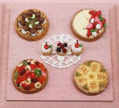 Tarts made by students.