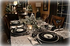 Dining Delight: Christmas in the Mountains Tablescape